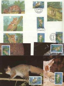 Tanzania 8 FDC/cards WWF 1989