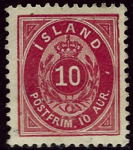 Iceland #26 Mint OG VF SC$17.00.....Beautiful!