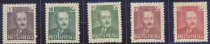 Poland Stamp Scott #490-6, 493A, Mint Hinged - Free U.S. Shipping, Free World...