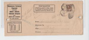 CANADA 1918 DOMINION EXPRESS CO, COD ENVELOPE TO US, 3c RATE (SEE BELOW)
