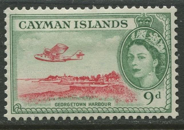Cayman Islands - Scott 144 - QEII Definitive -1953-59 - MH- Single 9d Stamp