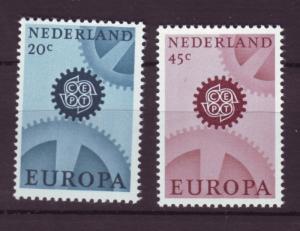 J18504 JLstamps 1967 netherland set mnh #444-5 europa