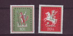 J472 jl,s stamps 1958 germany mh scn b360-1 set/1