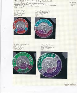 tonga 1967 coronation issue stamps on 2 pages ref r11357