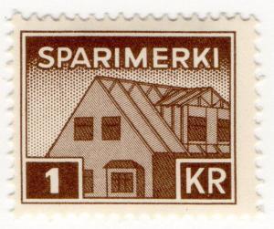 (I.B) Iceland Revenue : Savings Stamp 1Kr (Sparimerki)