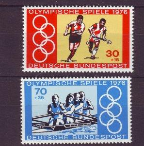 J24211 JLstamps 1976 germany set mnh #b530-1 sports