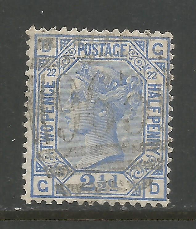GREAT BRITAIN 82 VFU PLATE 22 647B-2