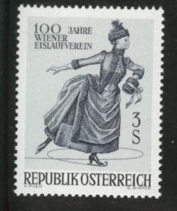 Austria Scott 785 MNH** 1967 Vienna Ice Scating stamp