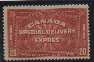 Canada Sc  E4 1930 20c henna brown Special Delivery stamp mint LH