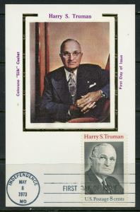 UNITED STATES 1973 HARRY TRUMAN COLORANO MAXIMUM  CARD