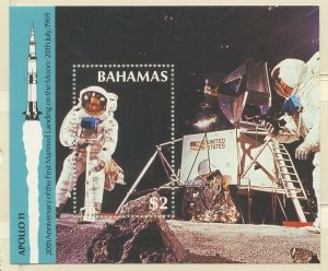 Bahamas 1989 Moon Landing S/S Sc# 678 NH