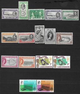 COLLECTION LOT #449 ASCENSION 16 STAMPS MH 1934+ CV+ $20
