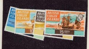 BR. VIRGIN ISLANDS (SP84) # 207a-216a  VF-MNH VARc 1974 QEII / SHIP DESIGNS