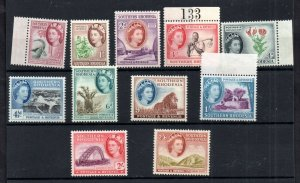 Southern Rhodesia 1953 QEII LHM set to 2s 6d SG78-88 WS18806