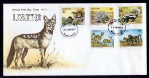 Lesotho 228-232 Mammals WWF U/A FDC