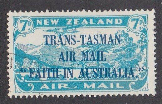 NEW ZEALAND 1934 Trans Tasman 7d fine used - ACS cat NZ$75.................M433