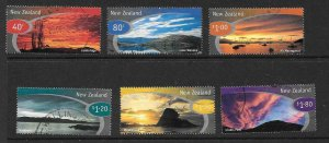 NEW ZEALAND SG2182/7 1998 SCENIC SKIES USED