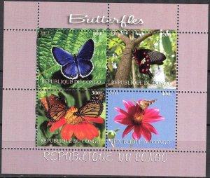 Congo 2011 Butterflies (4) MNH Cinderella !