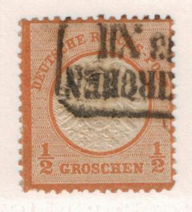 Germany Stamp Scott #16, Used - Free U.S. Shipping, Free Worldwide Shipping O...