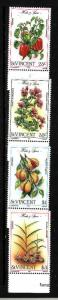 St. Vincent-Sc#829-32-Unused NH set-Herbs & Spices-1985-