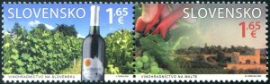 HERRICKSTAMP NEW ISSUES SLOVAKIA Int'l Year of Plant Health Wine, Joint Issue