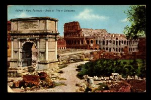 Italy 1925 Rome Sights PPC / Used - L11098