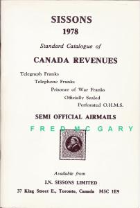 Philatelic Literature: Sissons Standard Catalogue of Canadian Revenues