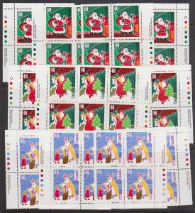 Canada USC #1339-1341 Mint MS  Imp. Blks. VF-NH Cat. $80. 1991 Xmas Personages