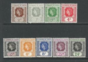 Leeward Isl.  #133-35,37-42  MLH  (1954)  c.v. $16.25