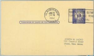 68044 - USA - POSTAL  STATIONERY CARD - 1960 OLYMPIC GAMES postmark: ALBUQUERQUE