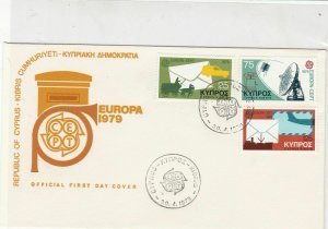Republic of Cyprus 1979 Europa CEPT Communications Stamps FDC Cover Ref 30418