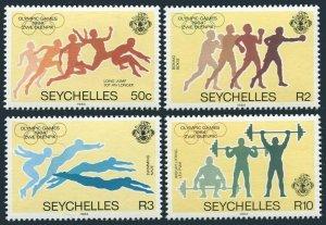 Seychelles 547-550,MNH.Michel 563-566.Olympics Los Angeles-1984.Long jump,Boxing