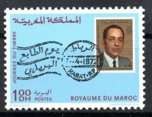 1972 - Morocco - Day of the Stamp- Stamp on the stamp- Complete set 1v.MNH**