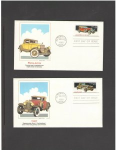 USA: #13 /**CLASSIC CARS SERIES ** / SILK CACHET- FDI- Excellent Condition
