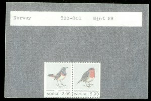 NORWAY Sc#800-801 MINT NEVER HINGED Complete Set
