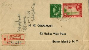 Bargains Galore Curacao Registered cover to US c1946