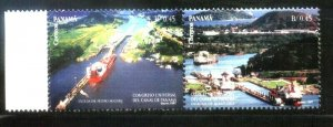 PANAMA 1997 SHIPS CROSSING THE CHANNEL YV 1152-3 MNH