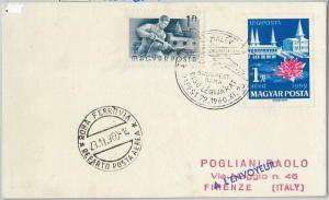 60217  -  HUNGARY - POSTAL HISTORY - AVIATION: First Flight  CARD to ITALY 1960