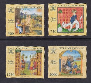Vatican City   #1041-1044   MNH   1997  pictures from text of classics