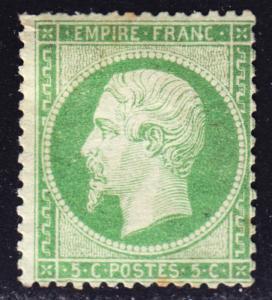 France Scott 23  Fine mint OG H.