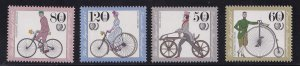 Germany  #B630-B633  MNH  1985  Youth welfare  antique bicycles