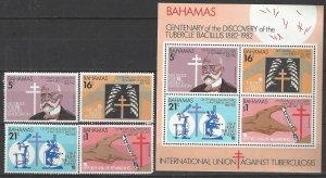 Bahamas 505-8a  MNH  Centenary of Discovery of TB