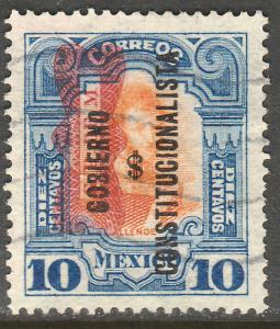 MEXICO 533, 10c CORBATA & $ REVOLUTIONARY OVERPRINTS USED (884)