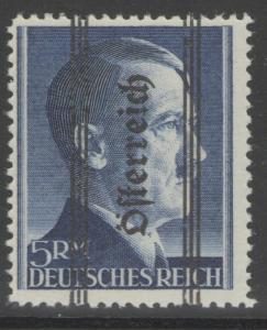 AUSTRIA SG852 1945 5rm ULTRAMARINE p12½ MNH
