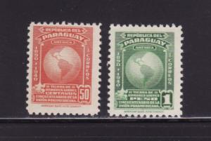 Paraguay 374-375 MNH Pan American Union, Map (D)