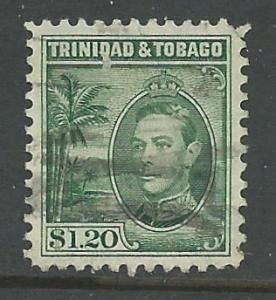 Trinidad Tobago # 60 George VI $1.20 (1) Used