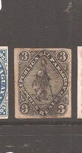 Paraguay 1870 Lion SC 3 fault at bottom closed with hinge Used (5cba)