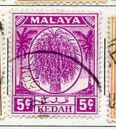 Kedah USED Scott Cat. # 65