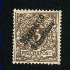German Offices in Morocco 1   -1   Mint VF pencl on gum 1899  PD