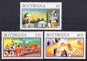 1977 Botswana 179-181 25 years of the coronation of Elizabeth II